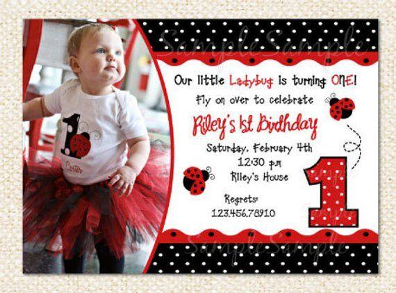 Ladybug Birthday Invitation In 2018
