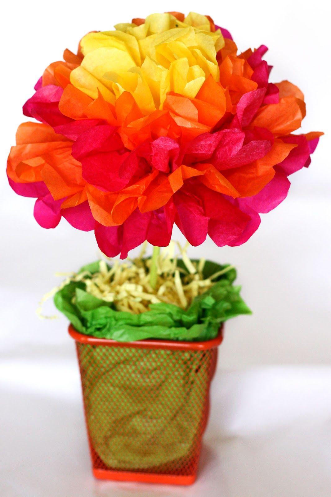 Simple Single Paper Flower Pot Clever Paper Balloon Party Decor