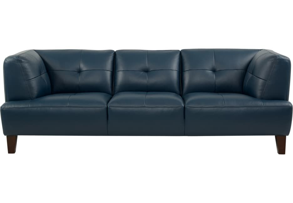 Awesome Villa Capri Blue Leather Sofa In 2019 Blue Leather Sofa Gmtry Best Dining Table And Chair Ideas Images Gmtryco
