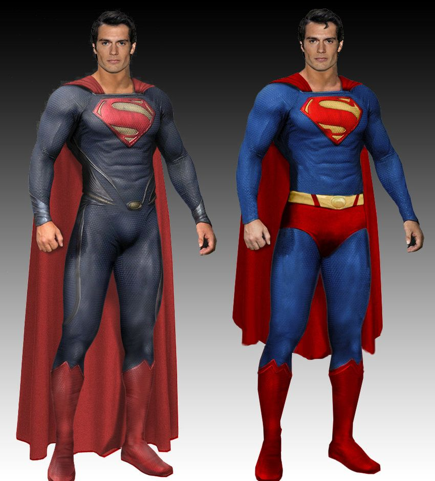 Superman Man Of Steel Costume Comparison By Thedreaded1 On