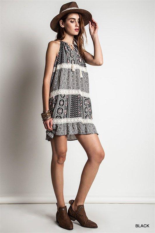 Sleeveless Print Dresses