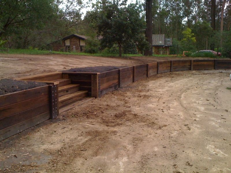 Photos Of Wood Retaining Walls
