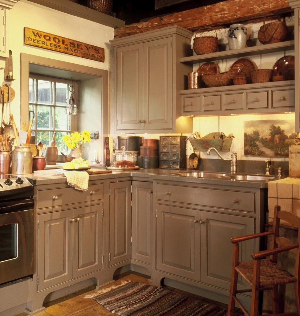 Country Kitchen With Maple Shaker Cabinets And Terra Cotta: Pin By Lorna McAllister On Kitchens