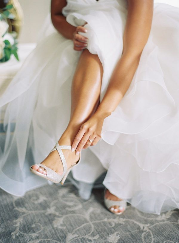 Dreamy White Virginia Wedding with Classic Charm is part of Jimmy choo wedding shoes, Outdoor wedding shoes, White wedding shoes, Jimmy choo wedding, Charlottesville wedding, Wedding shoes - Michael and Carina Photography has captured another blissful Virginia wedding that we completely adore, this time with beautiful Charlottesville views!