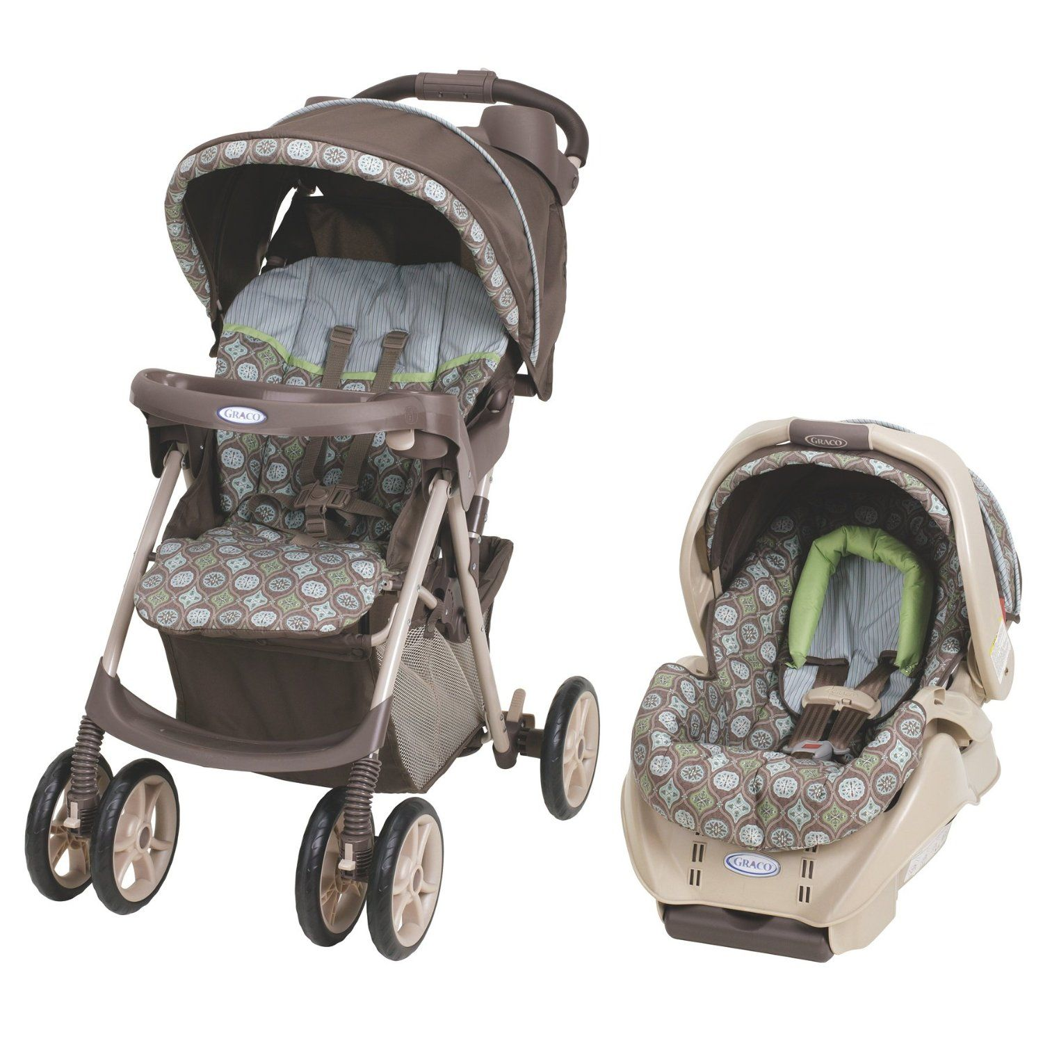 Graco Spree Travel System, Barcelona Bluegrass Stroller
