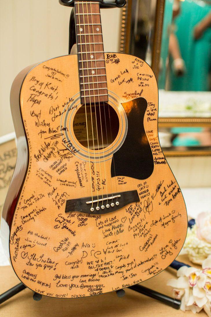 Acoustic Guitar Guestbook ALEXIS JUNE WEDDINGS http