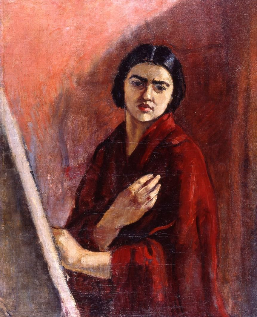 e54204ffb6a2 The Athenaeum - Self-Portrait with Easel (Amrita Sher-Gil - )