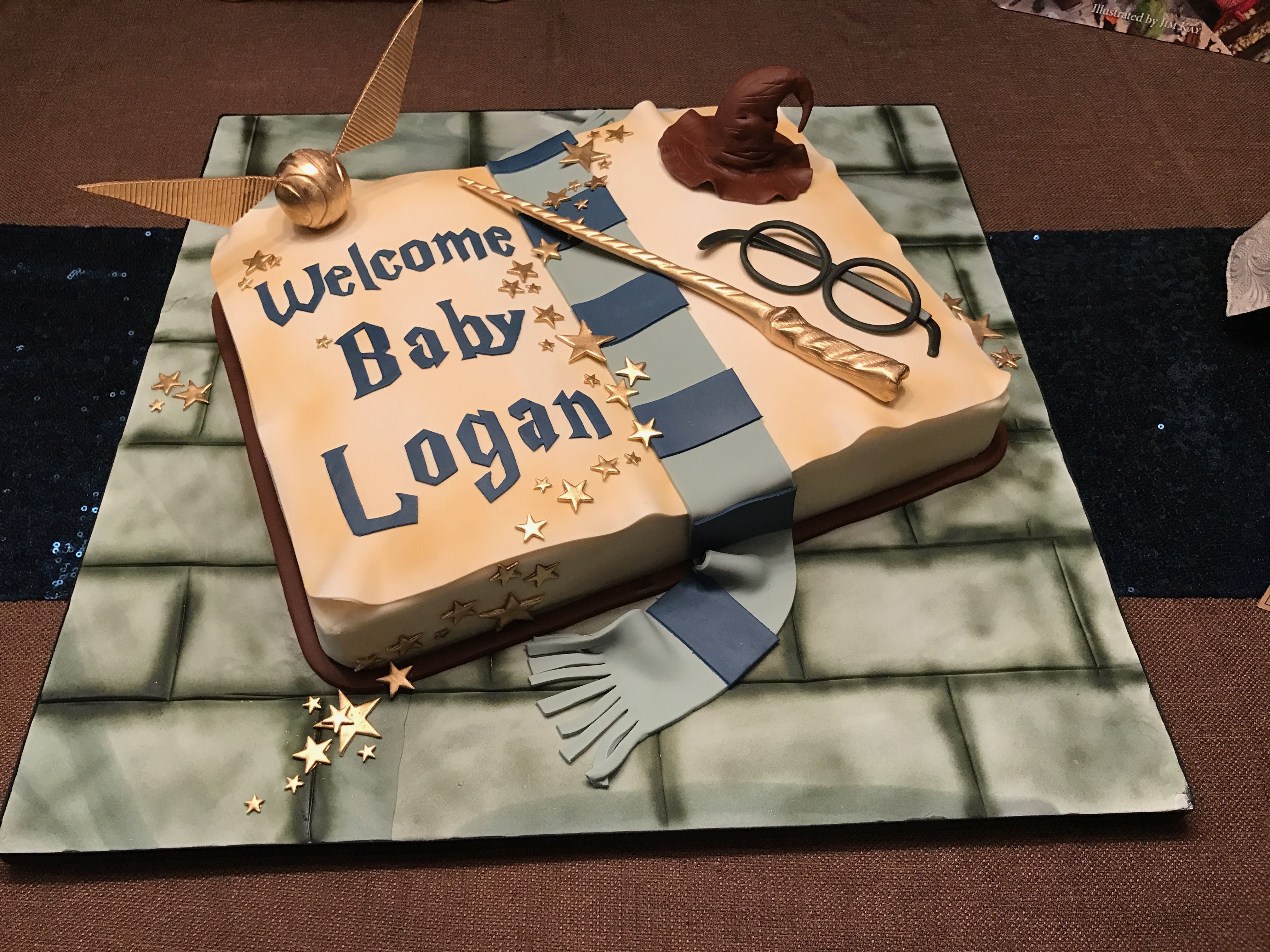 Harry Potter Baby Shower Cake | Harry potter baby shower ...