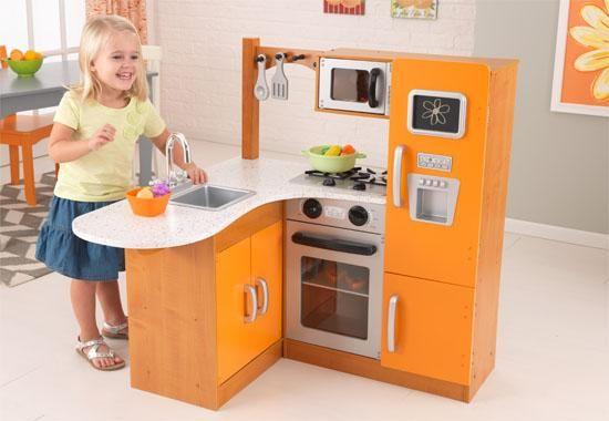 Limited Edition Orange Corner Kitchen From Kidkraft Play Kitchen