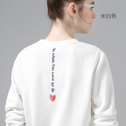 Toyouth White Sweatshirts Hoodie Women 2018 Letter Embroidery Long Sleeve Tracksuit Female Casual Basic Pullovers Tops