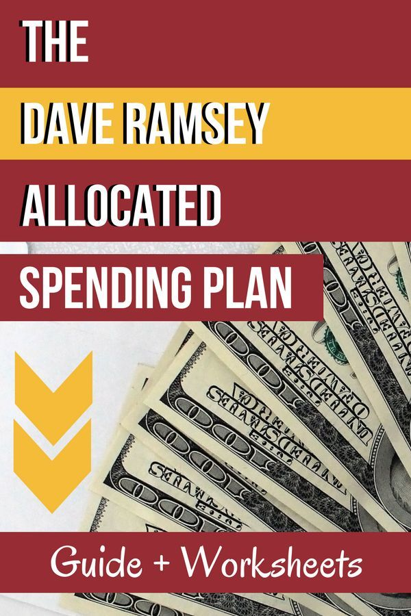 The Dave Ramsey Allocated Spending Plan Guide + Worksheets Dave - dave ramsey budget spreadsheet template