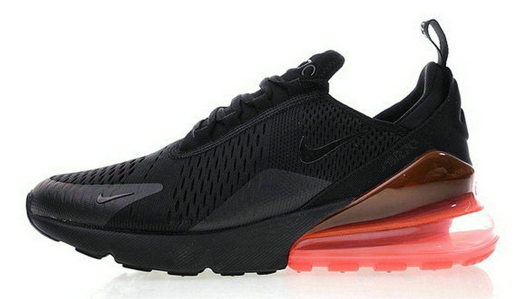 4d042b5b6ee7 2018 Genuine Nike Air Max 270 Schwarz Schwarz Hot Punch Ah8050 010 Sneaker