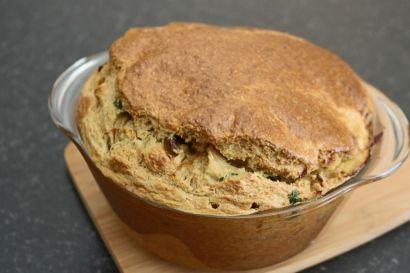 Torta de frango, aveia e queijo quark saudável. Receitas fit. Joanabbl Youtube (11)
