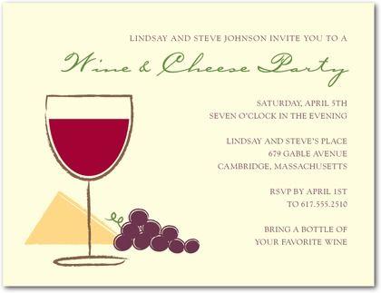 Signature Ecru Party Invitations Wine Pairing Front Chambord