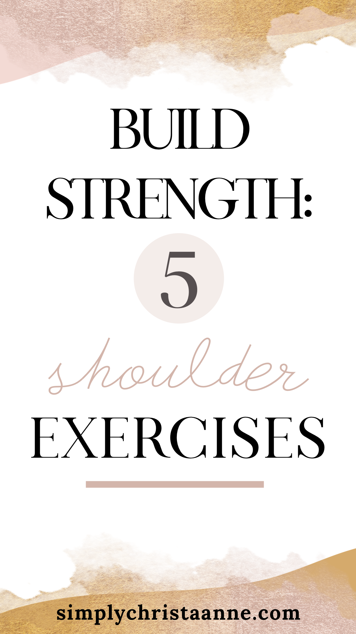 Build strength and improve confidence with these 5 shoulder exercises. They are perfect for any leve...
