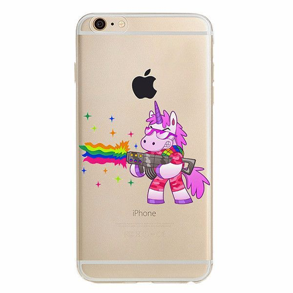 Rainbow UnicorniPhone case made from soft-silicone. Compatible iPhone models: 5 / 5s / SE, 6 / 6s, 6 / 6s Plus, 7, 7 Plus Case protects your iPhone while the silky, soft-touch silicone feels great in