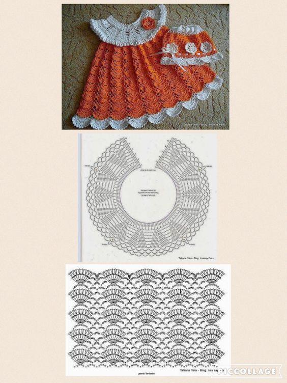20 Vestidos de Verano para tu Nena #vestidosparabebédeganchillo