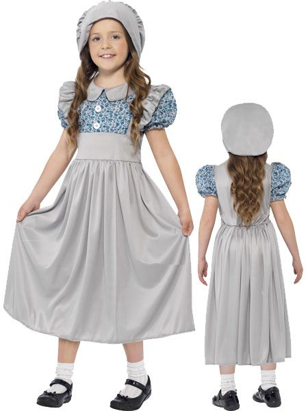 Childrens Victorian Maid Girl Fancy Dress Costume Childs Girls Outfit by Smiffys
