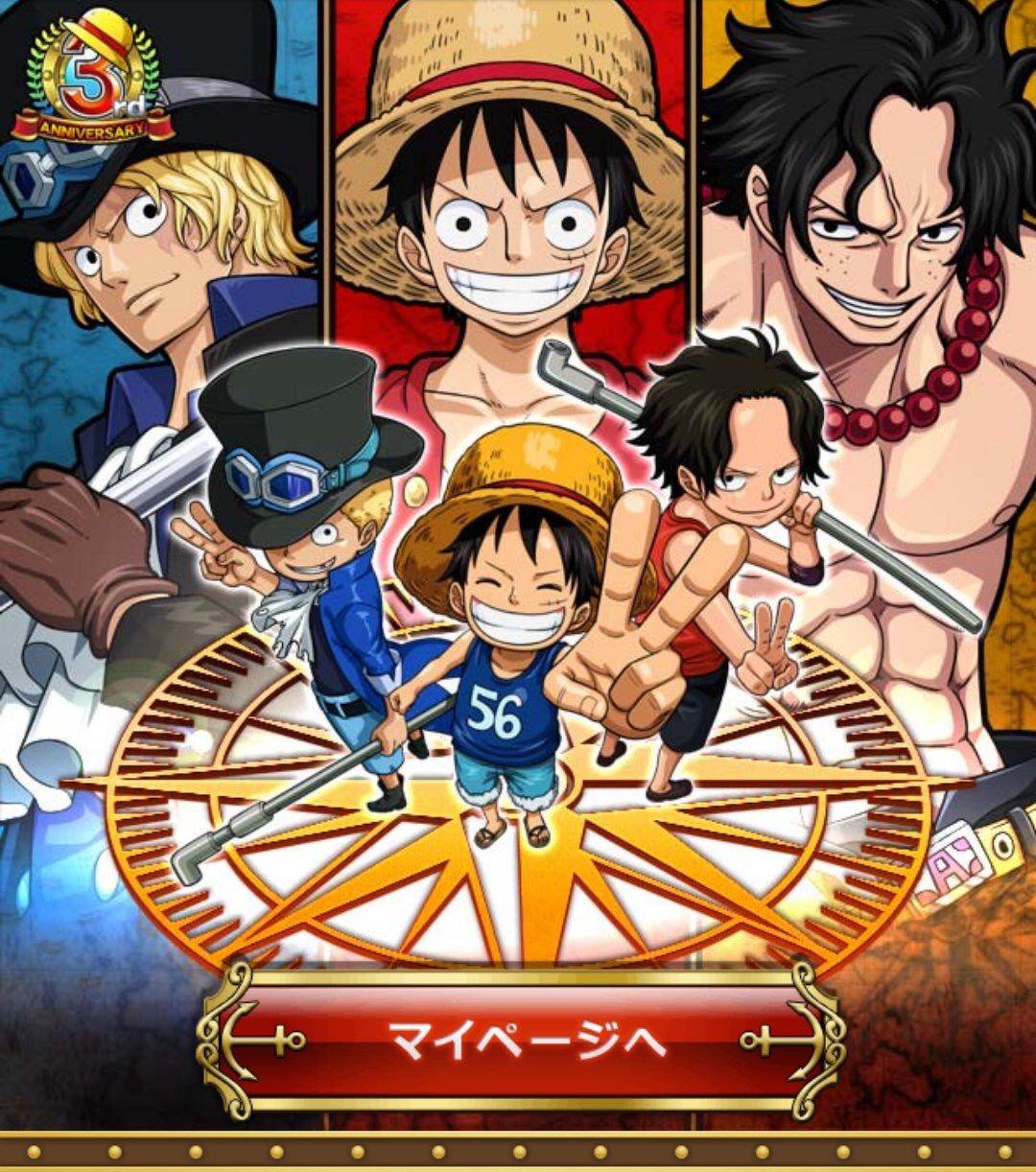 Hot Japan Anime One Piece Luffy Ace Sabo Wall Scroll Home Decor Poster 21*30CM
