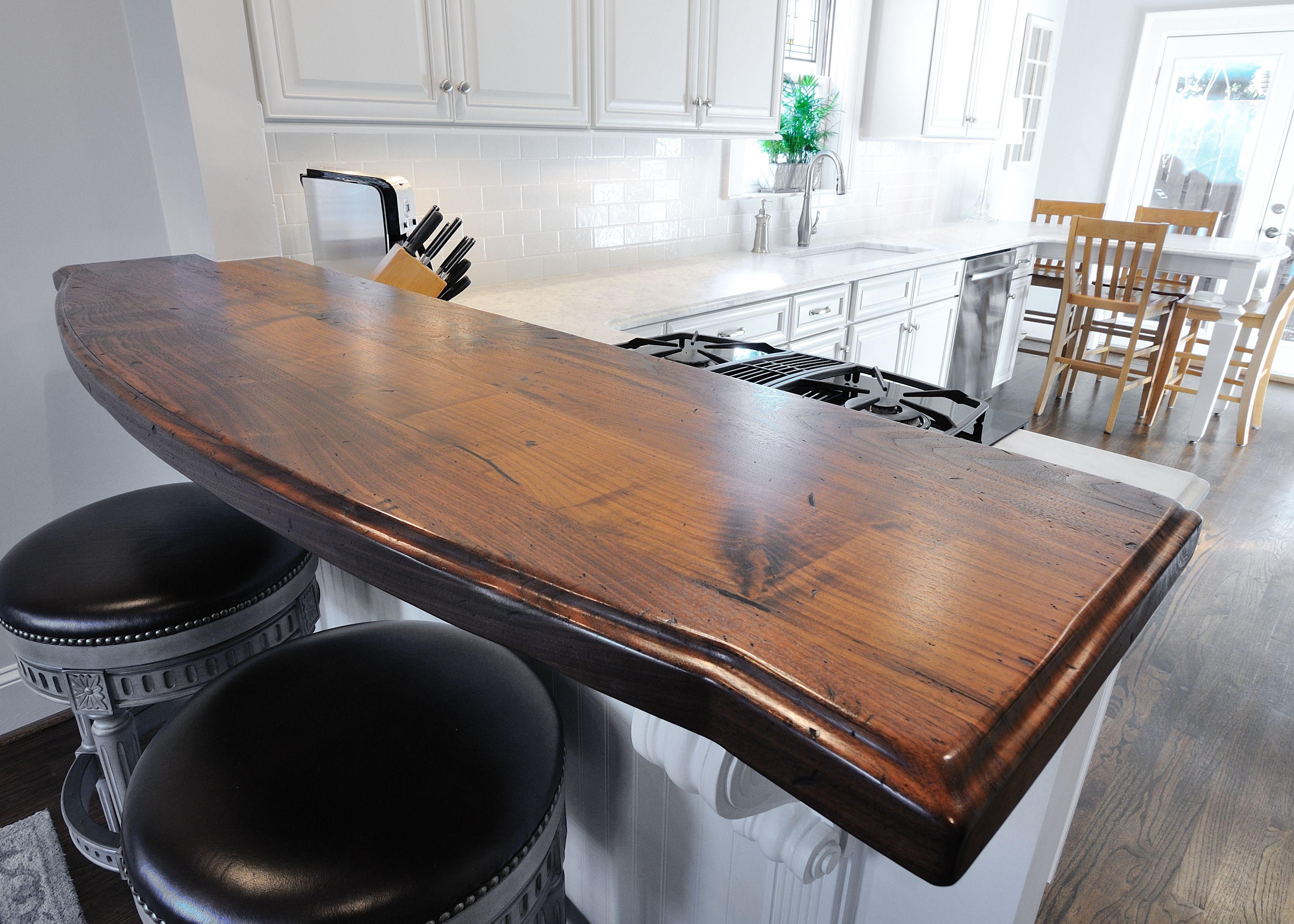 Heritage Wood Countertop In Distressed Black Walnut Www Artisan