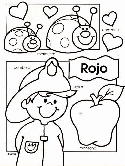 COLORES - Colorear y aprender | Habla español pre-escolar ...