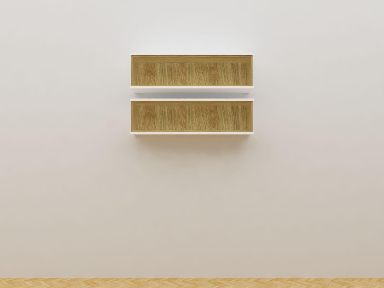 Minimalist Modern Furniture Rak Sepatu Gantung Kayu Minimalis