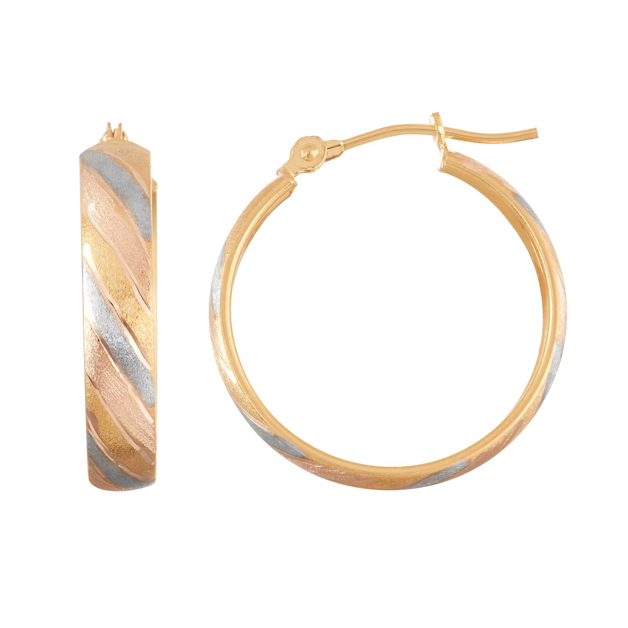 Nest Satin-Finish Hoop Earrings rTXVgafh