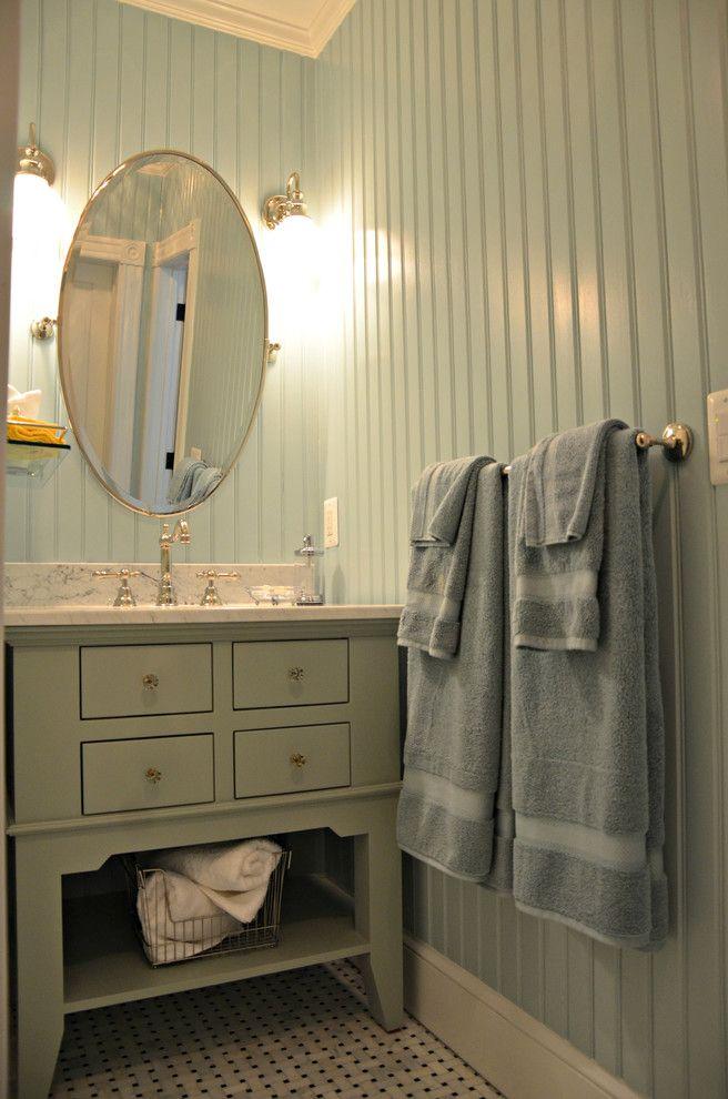 Delightful Floor To Ceiling Beadboard Decorating Ideas In Bathroom