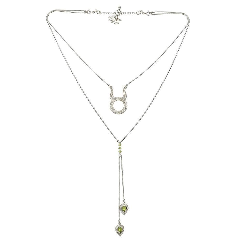 Detachable 3 in 1 Taurus Necklace - Silver