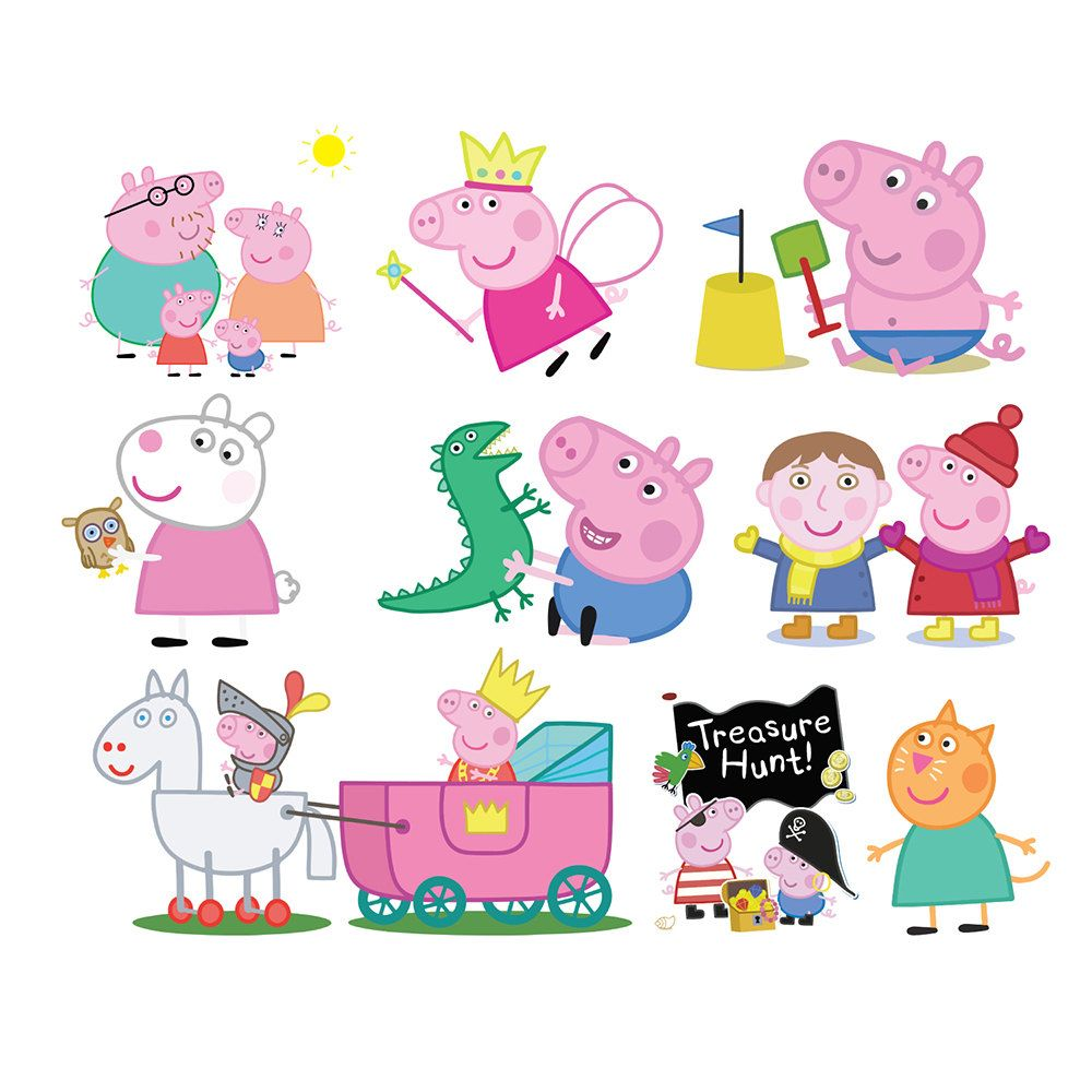 This is a graphic of Peppa Pig Character Free Printable Images in coloring