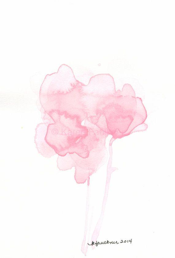 Watercolor Painting Rose Colored Memories By Karenfaulknerart On
