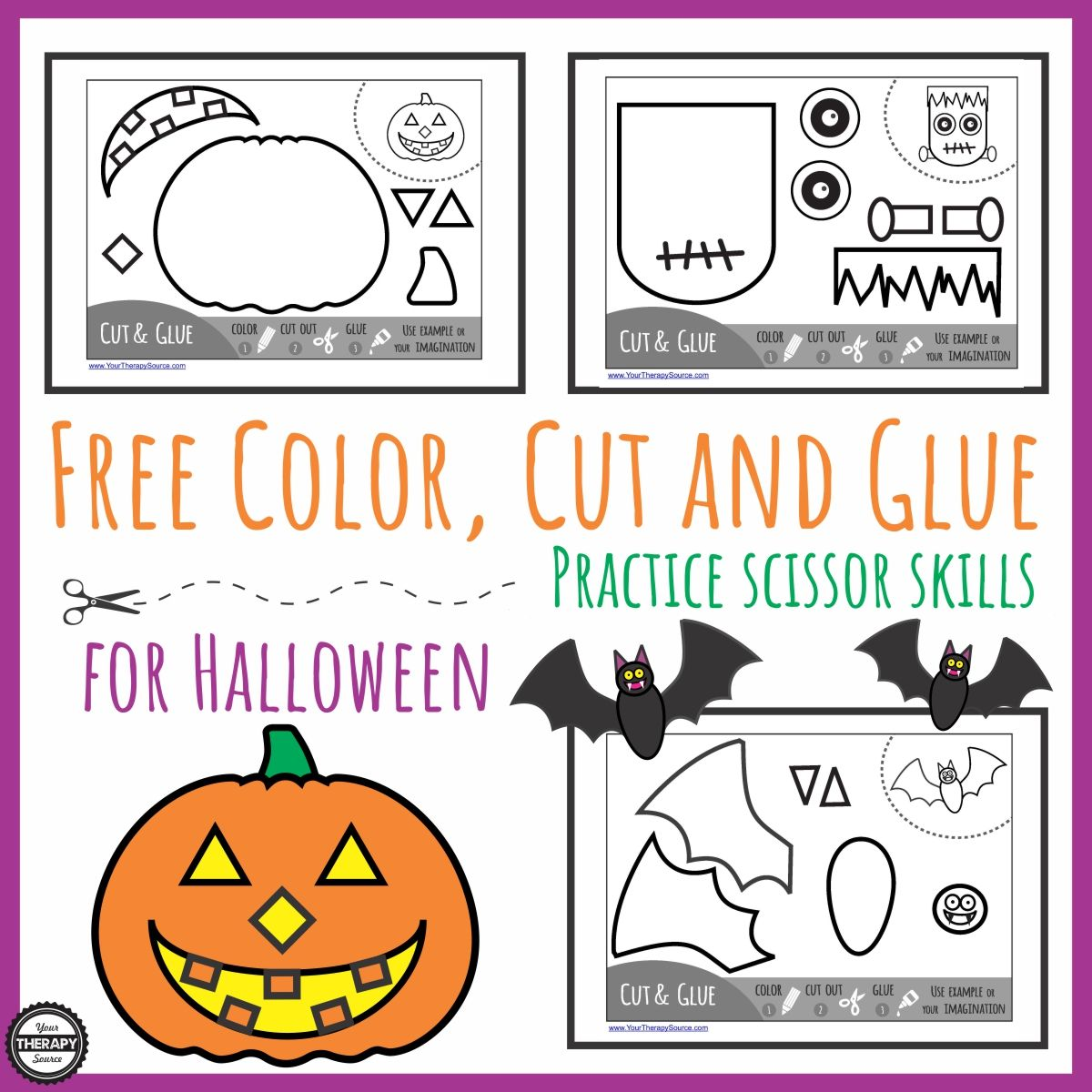 Color Cut Glue Halloween Pinned By Staffing Options
