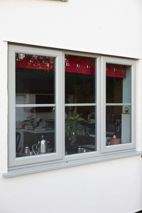 We like this colour of upvc casement window in pearl grey for Upvc window frame
