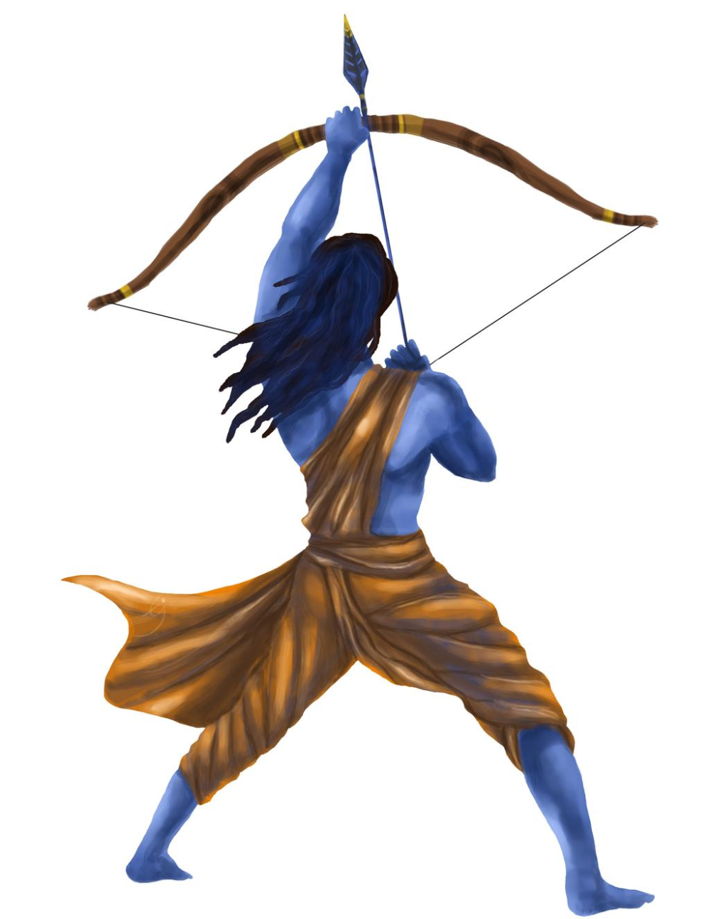 Lord Ram, from the Epic Ramayana by tej-deep on De