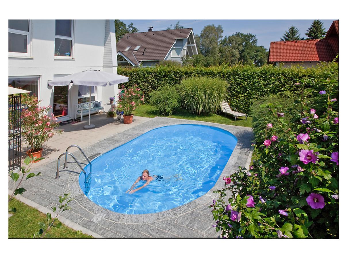 styropool ovalform becken 1 50m tief 3 50x7 00m pools. Black Bedroom Furniture Sets. Home Design Ideas