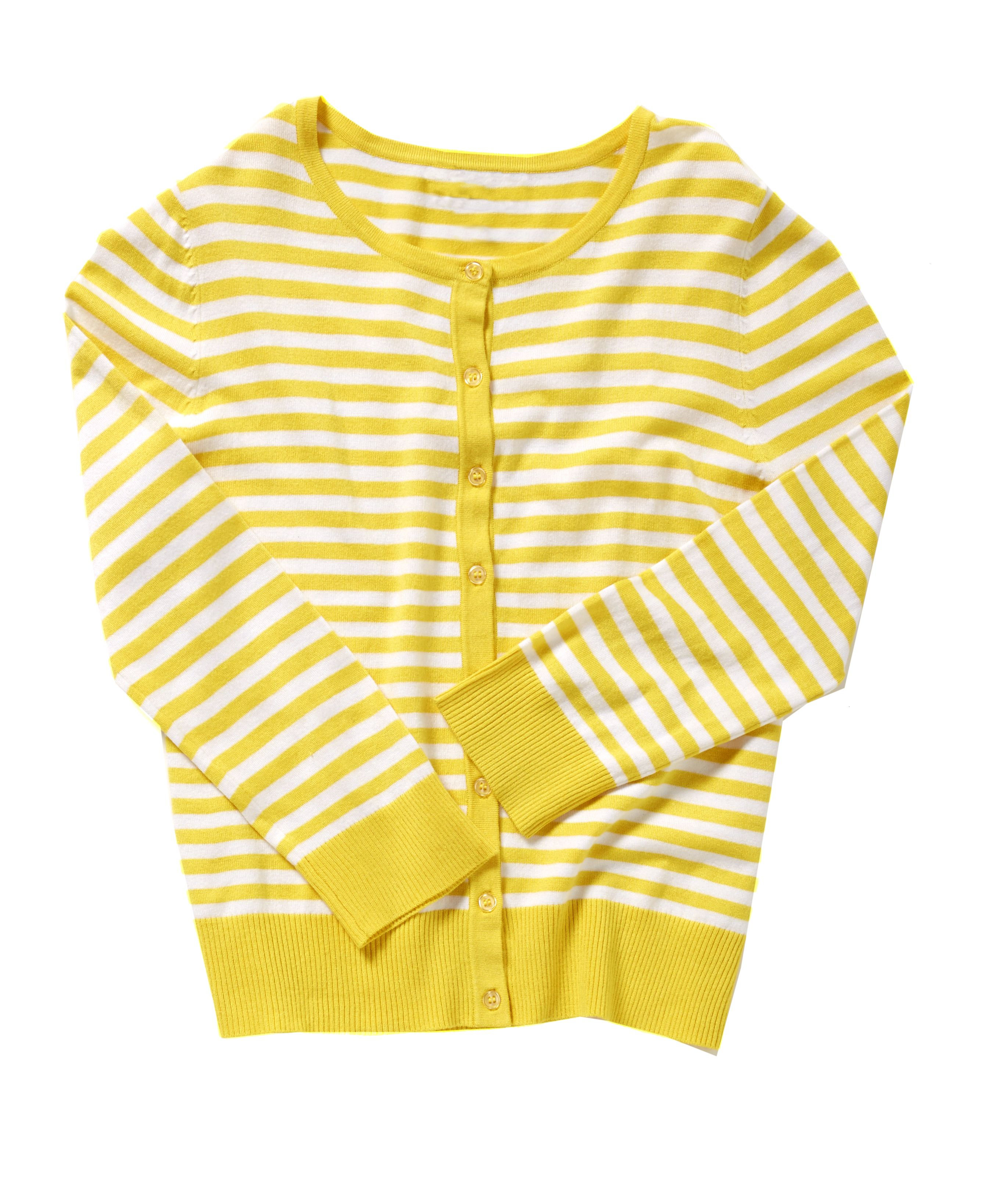 Striped Cardigan Yellow MadAboutSpring Striped