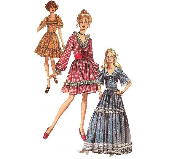 1970s Square Dancing Costume  Simplicity 8875 by ErikawithaK
