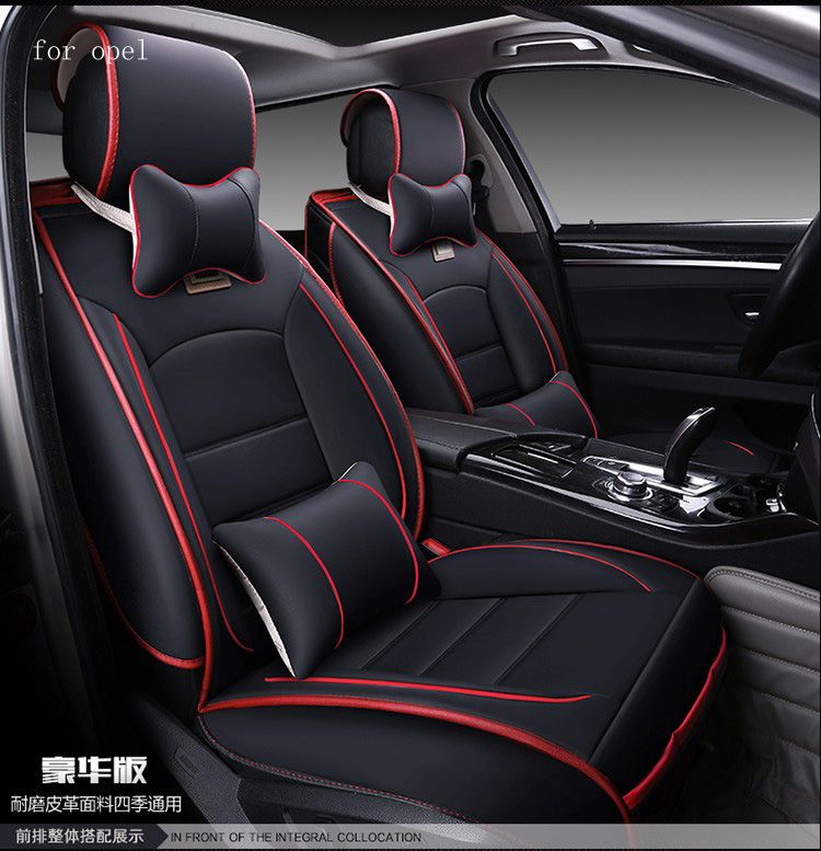 BLACK and RED Car Seat Covers UNIVERSAL Protectors Fits Vauxhall Insignia