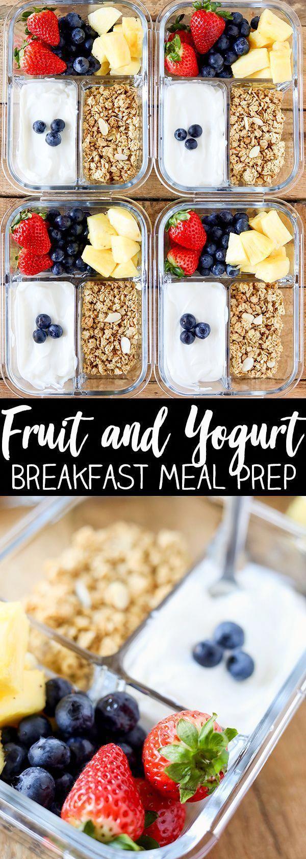Breakfast Meal Prep Fruit and Yogurt Bistro Box #healthyrecipes