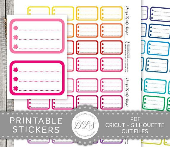 Half Box Checklist Planner Stickers, Printable Checklist Stickers