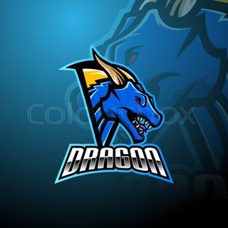 Dragon Head Esports Mascot Logo Design Mascot Logo Design Dragon Head