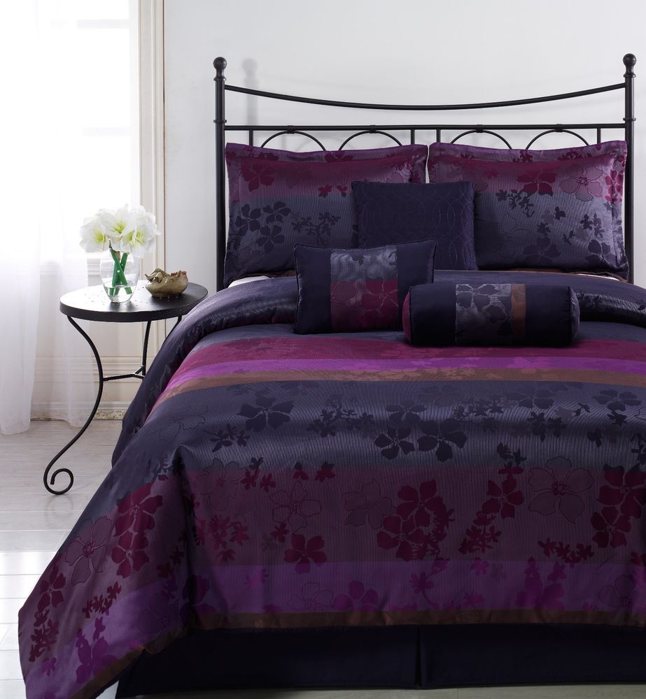 Black and purple bed sheets - Purple