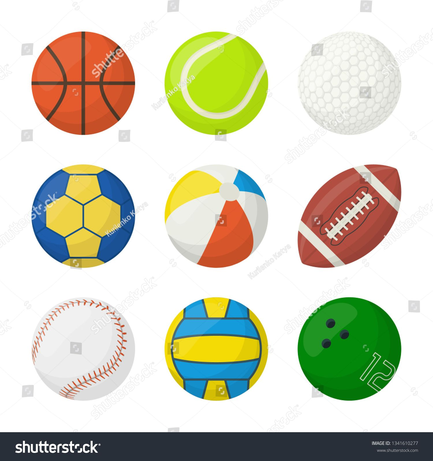 Set Balls Different Types Sports Isolated Royalty Free Image Vector In 2020 With Images Royalty Free Images Vector Images Royalty Free