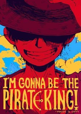 Metal Poster One Piece Luffy
