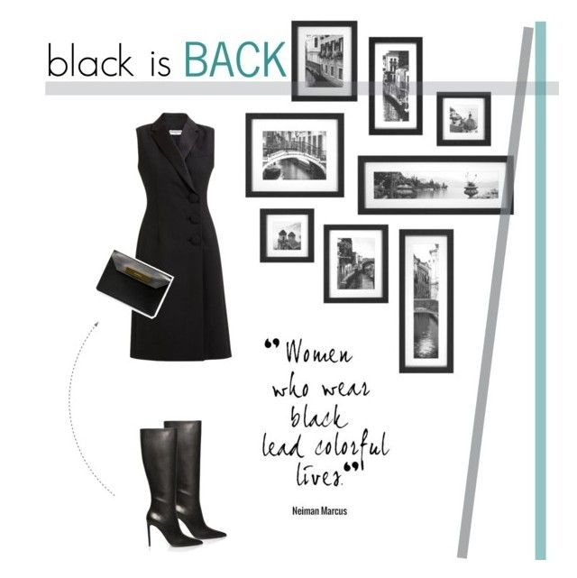 """Black is Back"" by firstboutique ❤ liked on Polyvore featuring Balenciaga, women's clothing, women, female, woman, misses and juniors"