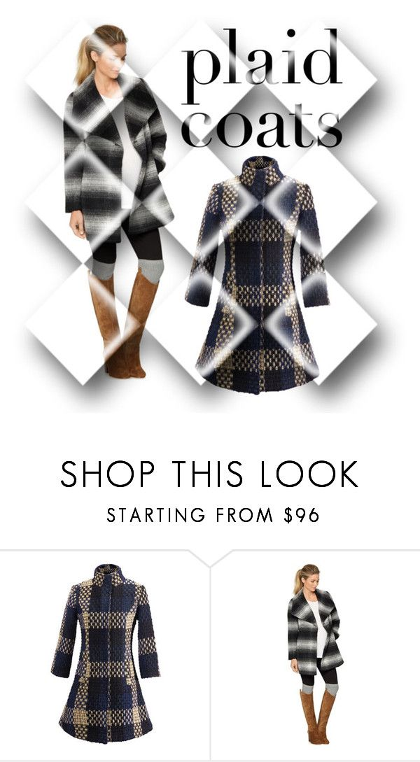 """Plaid Coat"" by yemmy-made ❤ liked on Polyvore featuring WithChic, A Pea in the Pod and contest"