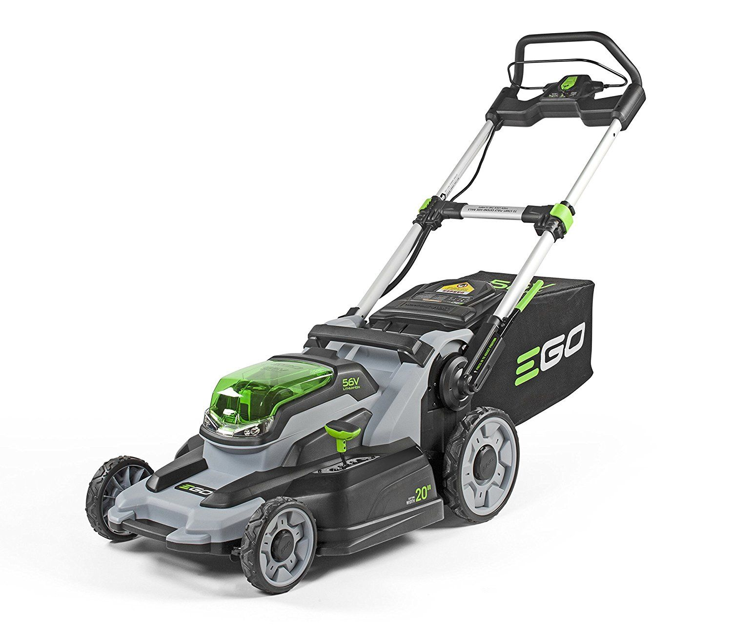 Ego Power 20 Inch 56 Volt Lithium Ion Cordless Lawn Mower 5 0ah Battery And Charger Kit Best Push L Best Lawn Mower Cordless Lawn Mower Lawn Mower Battery