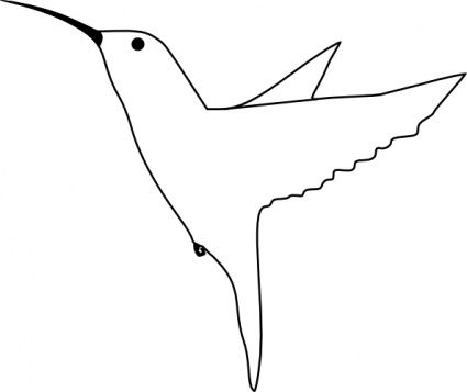 Small Outline Little Bird Fly Animal Fast Humming Outlines