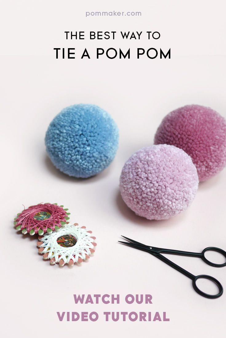 The best way to tie a pom-pom | pompom tutorial | diy craft tutorial images