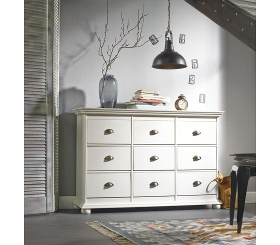 kommode kiefer wei 9 schubladen bei m max g nstig online. Black Bedroom Furniture Sets. Home Design Ideas